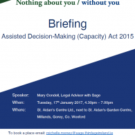 Briefing on the Assisted Decision-Making (Capacity) Act 2015 Image