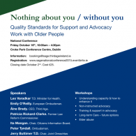 Image for Quality Standards for Support and Advocacy Work with Older People National Conference