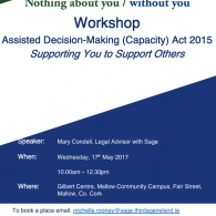 Sage Workshop: ADM (Capacity) Act 2015, 'Supporting You to Support Others' - Cork Image