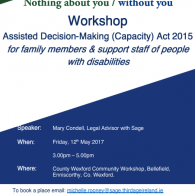 Image for Sage Workshop: ADM (Capacity) Act 2015 'Supporting You to Support Others' - Wexford