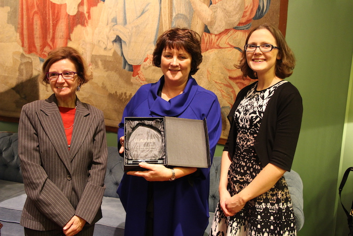 Aine Brady and Ariana Ball receive the Lifelong Learning Award 2016 in Brussels
