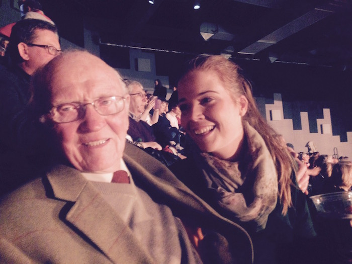 Image of Grace O Sullivan and her grandad